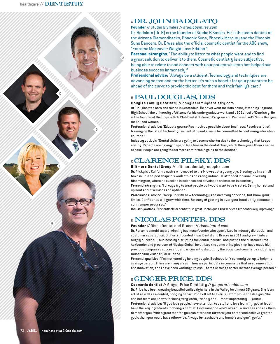 AZ Business Leaders in Dentistry